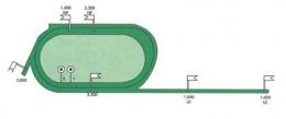 Carte des pistes de l'hippodrome tiercé de Deauville