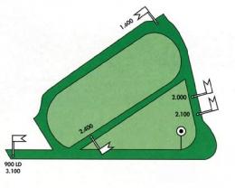 Carte des pistes de l'hippodrome tiercé de Saint-Cloud
